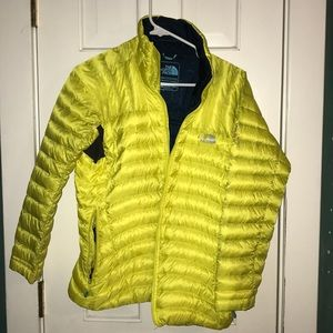 Neon Yellow North Face Coat
